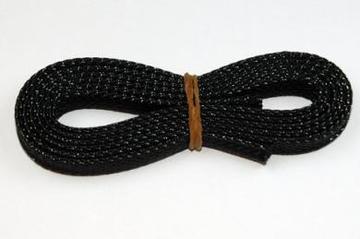 Gaine extensible noir diamètre 6mm (longueur 1m)
