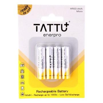 Batterie AAA NiMH Tattu - 1.2V 800 mAh x4