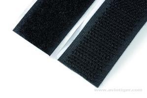 Velcro noir 20mm X 50 cm