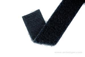 Bande velcro noire réversible (50cm)