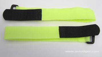 Sangle Velcro Jaune Fluo 20X260mm (x2)