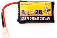 Batterie Lipo 1s 3.7V 240mAh 25C pour WK Genius, Mini CP, Ladybird, HubsanX4