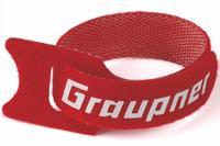 Attache batterie-câbles rouge 200mm Graupner (x1)