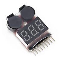 Testeur Voltmètre avec alarme lipo 1s-8s