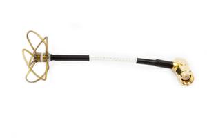 Antenne Cloverleaf Rx 5,8GHz - RP-SMA male coudé 90°