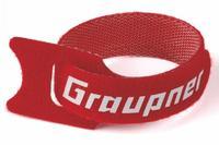 Attaches batterie-câbles rouge 200mm Graupner - (x10)