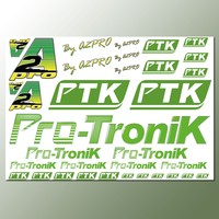Planche autocollants sticker A2Pro PTK Pro-Tronik