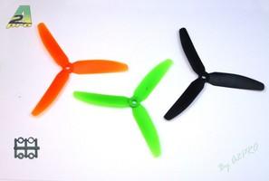 Hélice Tripale 7x3.5 Orange propulsive Gemfan 1 pièce