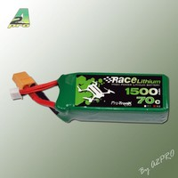 Lipo 1500 70C 4S XT60 Race Lithium Pro-Tronik