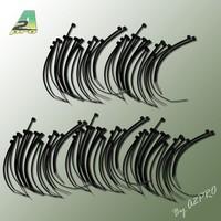 Collier nylon noir 2,5x100mm (100 pcs)