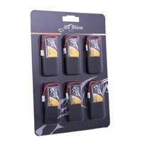 Pack de 6 Lipos 350mAh 30C 1S avec prise Molex