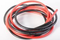 Cable siliconé AWG9 - 6,63² rouge & noir (2x1m)