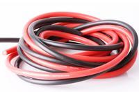 Cable siliconé AWG14 - 2,12² rouge & noir (2x1m)