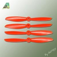 Kit 4 Hélices Fibre PTK 6x4.5 N Oranges (2 CW+ 2 CCW)