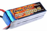 Lipo 1800mAh 14.8V 40C 4S 1P Gens Ace