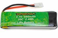 Lipo 1S 3,7V 650 mAh HOVERSHOT FPV - Dromida
