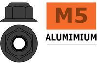 Ecrou Aluminium autobloquant M5 - Gun Metal - G-Force