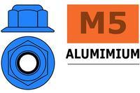 Ecrou Aluminium autobloquant M5 - Bleu - G-Force