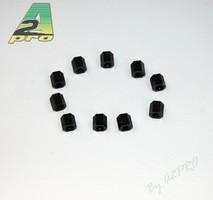 Entretoise nylon noir femelle-femelle M3x6 (10pcs)
