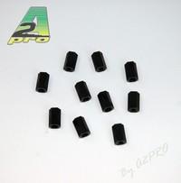 Entretoise nylon noir femelle-femelle M3x10 (10pcs)