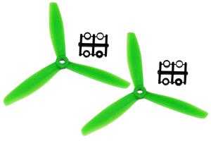 Hélice Gemfan Tripale fibre push 6x4 1/2 bullnose vert (2 pcs)