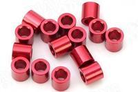 Entretoise Aluminium M3 X 3.5 rouge Diatone (x10)