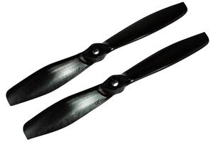 Hélice Gemfan fibre SF 6x4,5 push 1/2 bullnose noir (2 pcs)