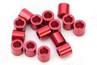Entretoise Aluminium M3 X 5 Rouge Diatone (x10)