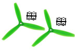 Hélice Gemfan Tripale fibre 6x4 1/2 bullnose vert (2 pcs)