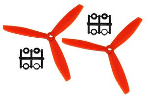 Hélice Gemfan Tripale fibre 6x4 1/2 bullnose orange (2 pcs)