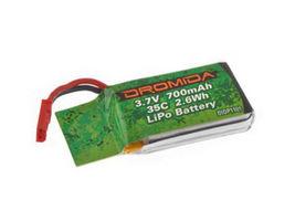 Batterie Lipo 1S 3.V 700 mAh 35C pour ominus FPV Dromida