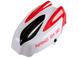 Bulle supérieure blanche et rouge pour Nano QX 3D de Blade