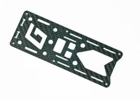Plaque carbone supérieure pour alpha 250Q Race Graupner
